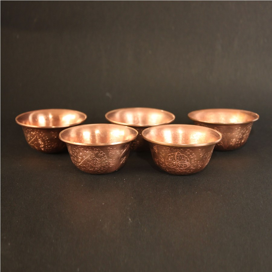 hand beaten copper, offering bowls