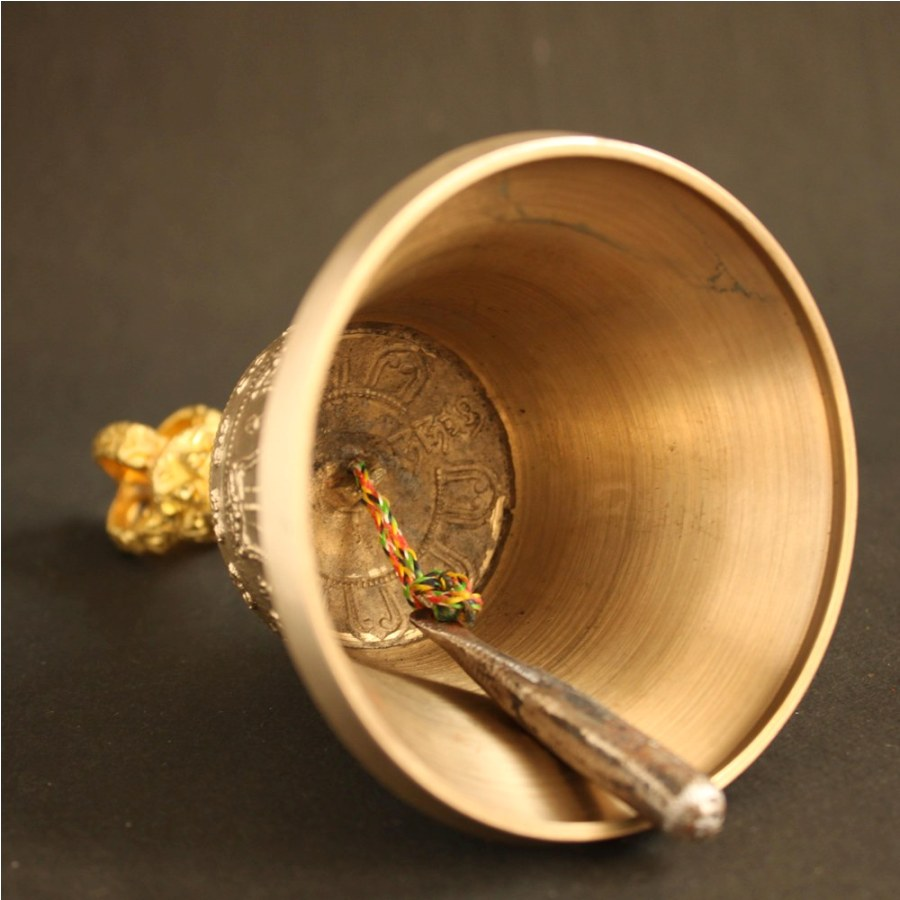 HIGH QUALITY FIVE PRONGED VAJRA AND BELL SET FROM DEHRADUN