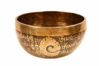 Tibetan Mantra Engraved Singing Bowl